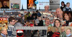 Kuvakollaasi Tallinnan seminaarista, ihmisiä, rakennuksia